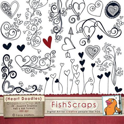 doodle hearts 75 sale clip doodles printable wedding clipart
