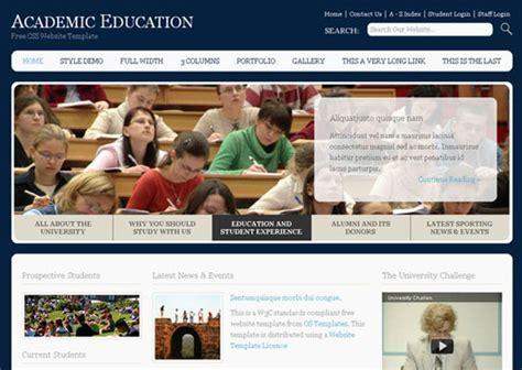 free educational website templates html and css 22 high quality free website templates web graphic