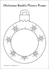 Baubles Templates To Colour by Bauble Colour In Photo Frames Sb8963 Sparklebox