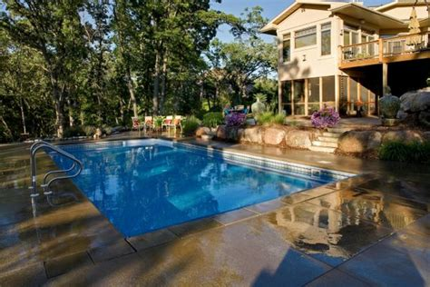Backyard Swimming Pool Design And Installation Minneapolis Swimming Pools Backyard