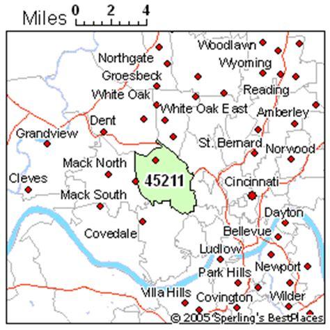 cincinnati zip code map best place to live in cincinnati zip 45211 ohio