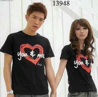 Kaos Wanita Happy With You baju korea murah shirt s lover