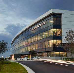 Porsche Test Track Atlanta Hok Incorporates Test Track Within Porsche S Atlanta Hq