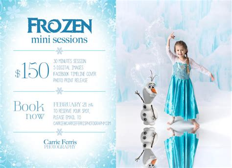 Template Photoshop Frozen | frozen mini session psd template photography marketing