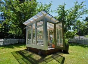 Studio sprout 8x10 greenhouse modern shed portland
