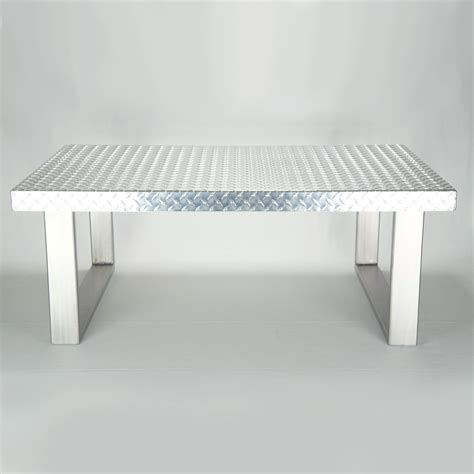 Aluminium Coffee Table Made Industrial Plate Metal Coffee Table By Ck Metalcraft Llc Custommade