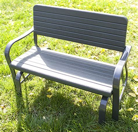 all weather garden bench merax 48 quot patio garden bench park yard lovechair all