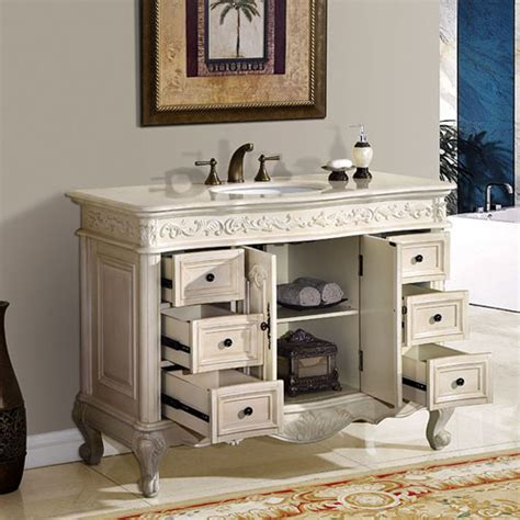 48 Inch Bathroom Vanity Cabinet Silkroad Exclusive 48 Inch Bathroom Vanity Marfil Counter Top
