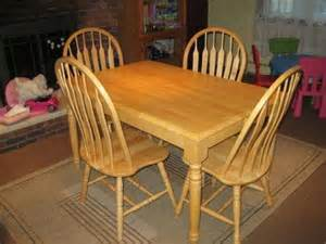 Oak Kitchen Table Chairs 280 Oak Kitchen Table With Insert And 4 Chairs For Sale In East Hanover New Jersey