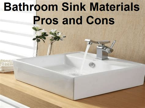 kitchen sink materials pros and cons bathroom sink materials pros and cons