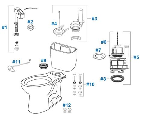 Toto Plumbing Parts by Toilet Parts