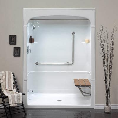 Bathroom Shower Stalls With Seat Bathroom Shower Stalls On Mirolin Barrier Free 1 Shower Stall With Molded Seat Home