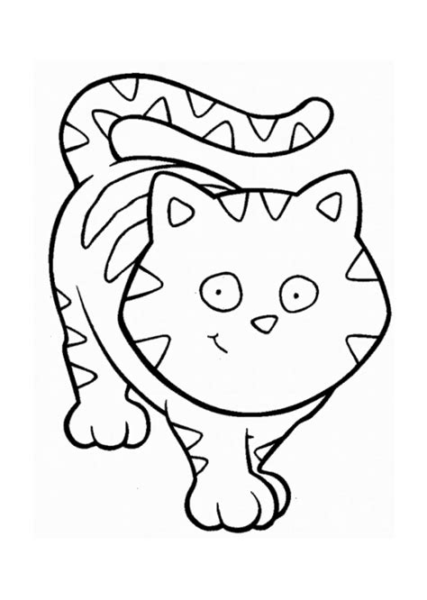 scared cat coloring page scared cat cartoon coloring home