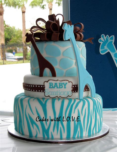 Blue Safari Baby Shower Ideas by Jungle Baby Shower Cakes Blue Safari Cake Baby O