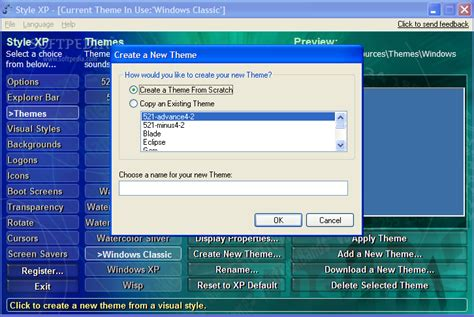 theme creator for xp style xp download