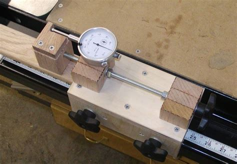 micro adjust table saw fence adjuster woodworking jigs