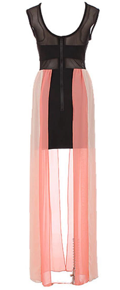Maxi Dress Clutc Ready Pink fierce dress pink black high low maxi dresses
