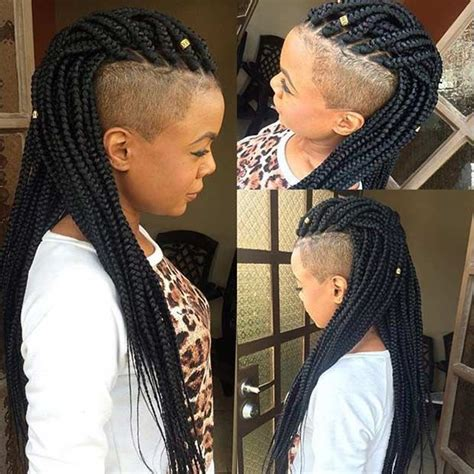 long cornrow hairstyles with shaved sides 1000 ideas about poetic justice braids on pinterest