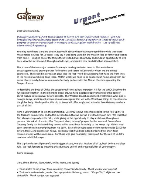 Mission Trip Donation Letter Template Collection Letter Template Collection Mission Trip Fundraising Letter Template