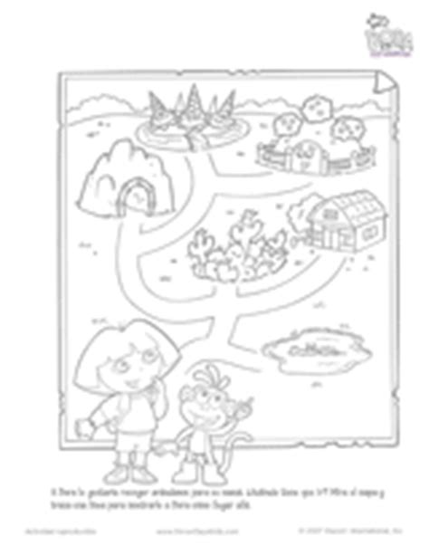 dora spanish coloring pages dora the explorer map spanish printable pre k 2nd