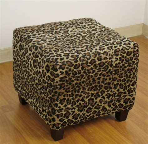 cheetah print ottoman cheap ottomans and footstools rating review 4d concepts