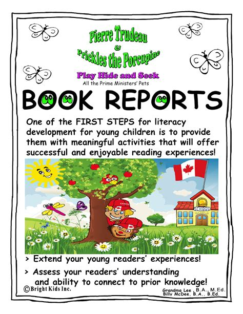 book report title bright book report activities trudeau and