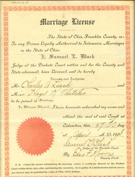 Columbus Divorce Records Charles Leach