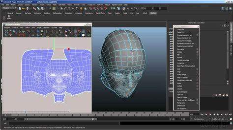 free vlsi layout editor free tutorial uv layout on a human head in maya youtube
