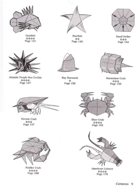 Origami Sea Creatures - book origami sea montroll