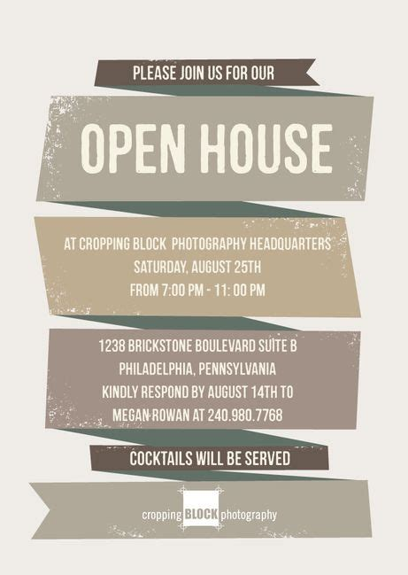 free open house post card templates business open house invitation template sanjonmotel