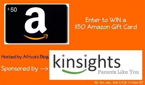 Win A Amazon Gift Card 2015 - win a 50 amazon gift card sponsored by kinsights
