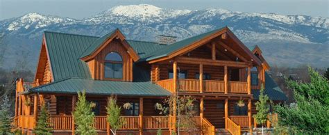 Log Cabin Kits Idaho by Here It Is At Last Lodge Logs Log Homes Log Cabins