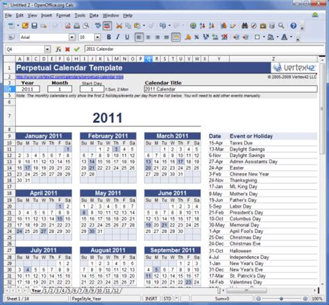 calendar template open office calendar template 2016