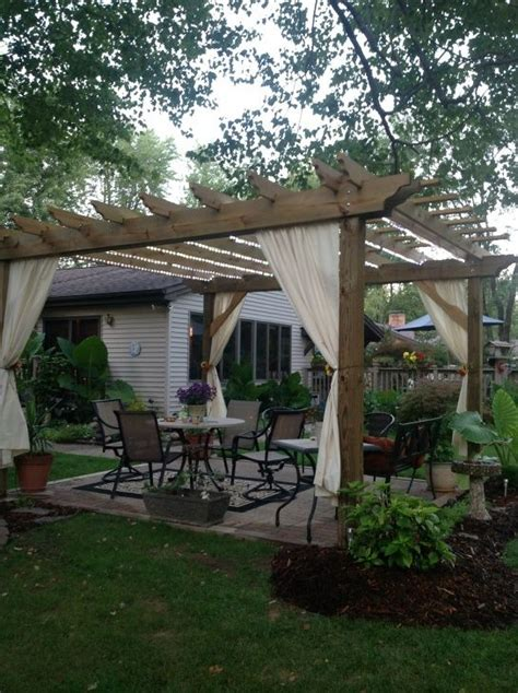 Pergola With Curtains Absolutely Pergolas But The Idea Of Adding Curtains To Help With Bugs And Add Softness