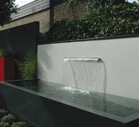 modern water features all about plants and planters freestanding contemporary