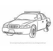 Learn How To Draw Sheriff Car Police Step By