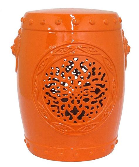 Orange Coloured Stool by Orange Garden Stool Color Stool Collections