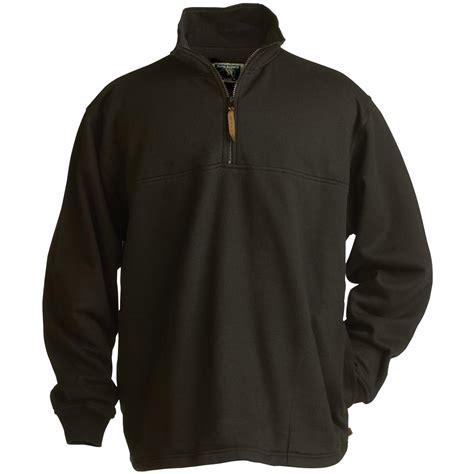 Sweater Hoodie Hitam 1 s berne apparel 174 original fleece quarter zip sweatshirt 104211 sweatshirts hoodies at