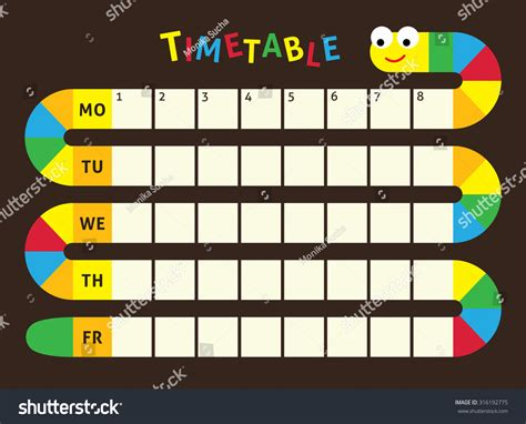 design html timetable school timetable timetable lessons students snake stock