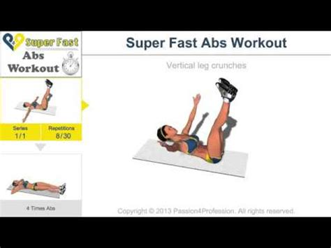 4p4 fast abs workout level 1 no