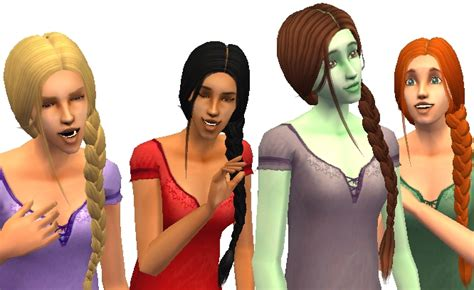 sims 4 custom content side braids mod the sims maxis match recolours of nouk 180 s braid side