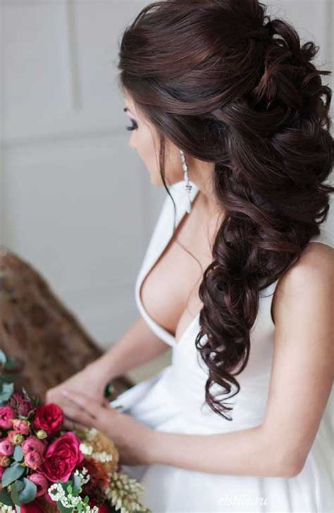30 Curly Wedding Hairstyles   Long Hairstyles 2016   2017