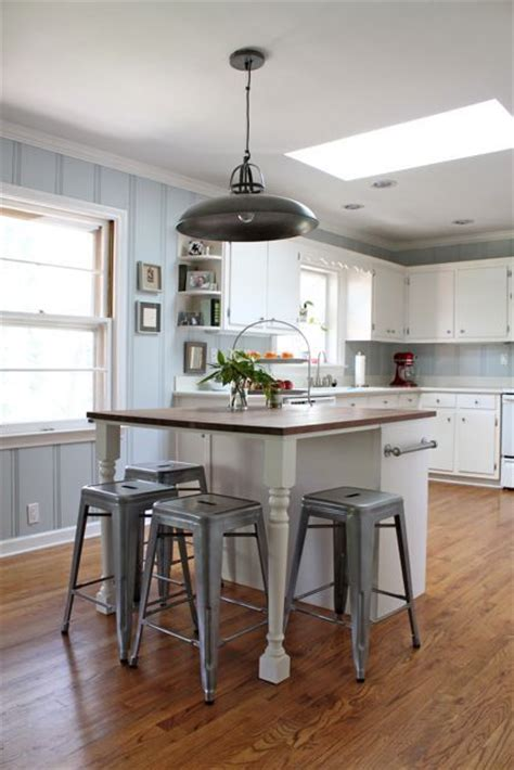 cb2 kitchen island kitchen diy butcher block island woodlawn sterling blue paint industrial cb2 pendant light