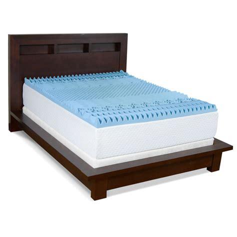 3 Gel Memory Foam Mattress Topper 3 gel memory foam 7 zone mattress topper foam padding