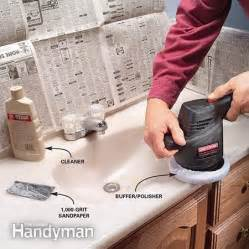 how to renew a scratched countertop the family handyman