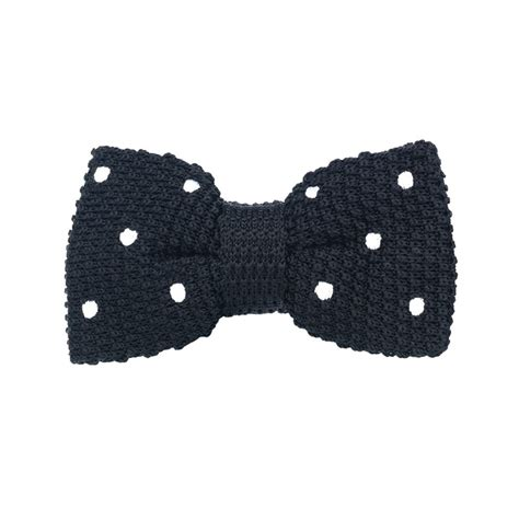 Ready Stock New Arrival Eliza Polcadot Luxury black white polka dot silk knitted ready bow towler