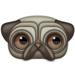 pug icon pug icon zoom eyed creatures iconset turbomilk