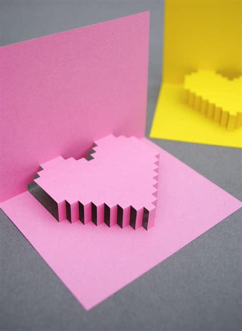how to make cool valentines day cards regalos manuales de tarjeta con coraz 243 n 3d en p 237 xeles