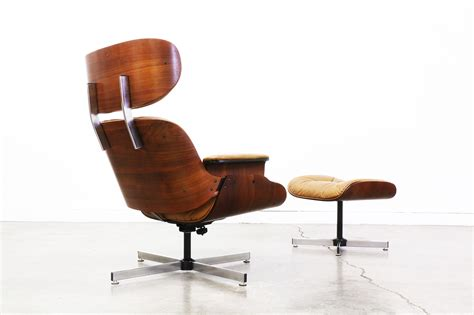 vintage eames style lounge chair  ottoman vintage supply store