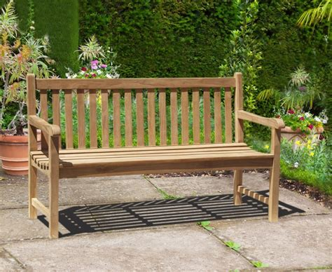 teak benches for gardens windsor teak 5ft garden bench